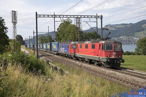 Re 420 341 + Re 620 081 . SBB Cargo . Kumm . 20.07.19.