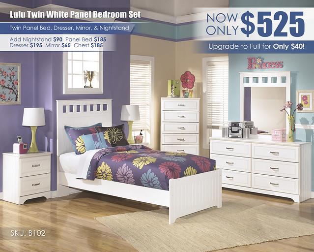 Lulu White Panel Bedroom Set_B102-21-26-46-52-51-82-92-SD