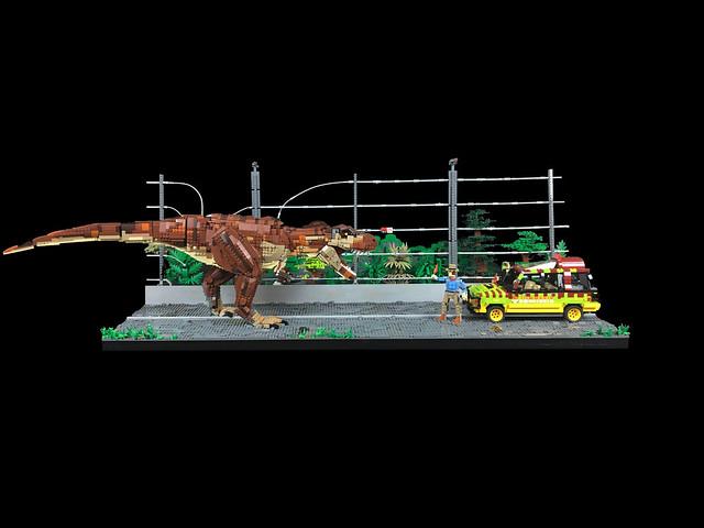 Lego Jurassic Park T-Rex Breakout MOC