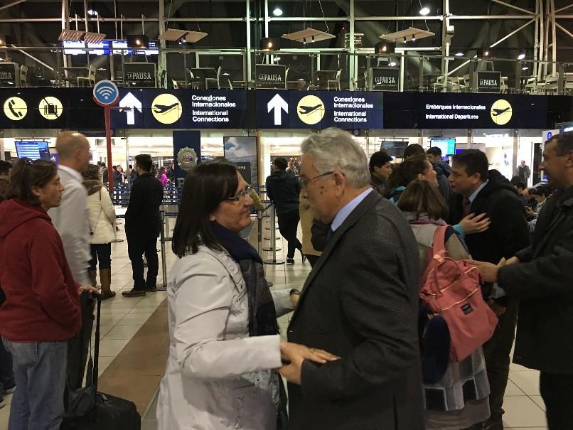 Despedida a comitiva que viaja a Estados Unidos