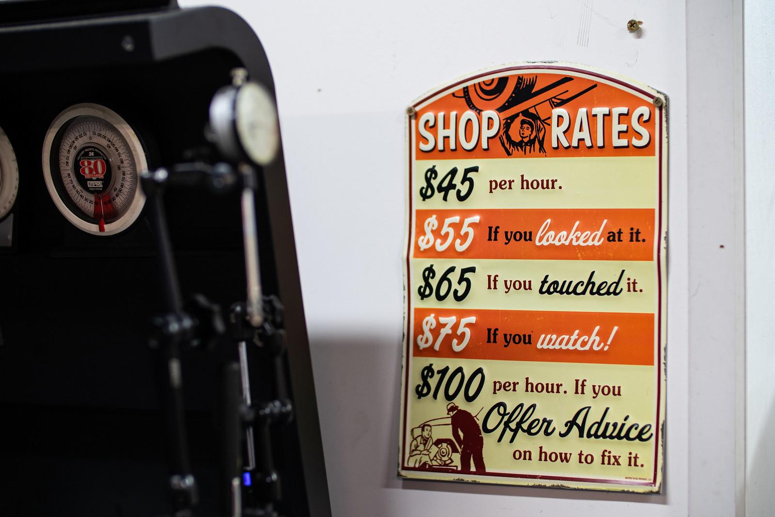 Shop Rates - HLR Workshop