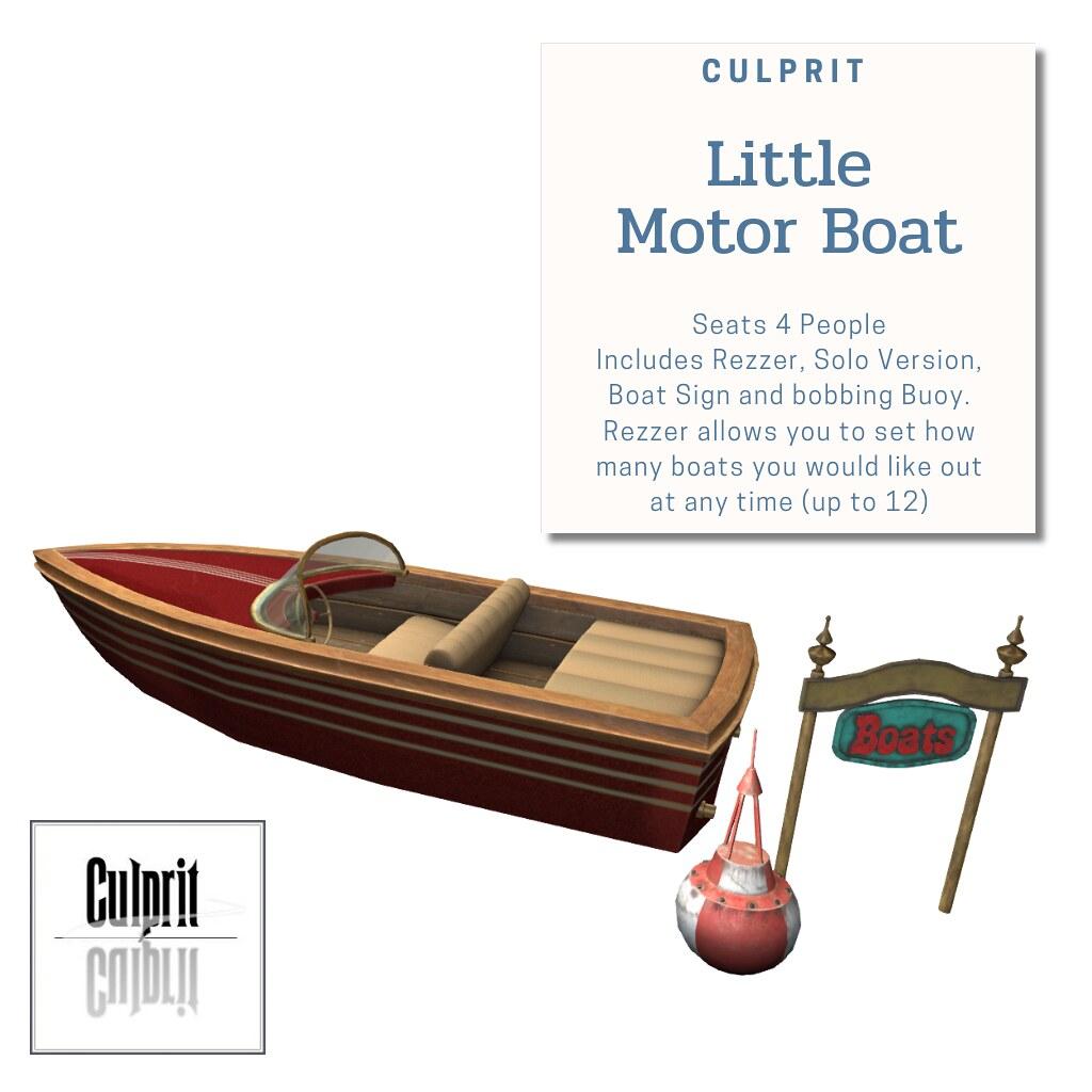 Culprit_Little_MotorBoat_RED_Racer - TeleportHub.com Live!
