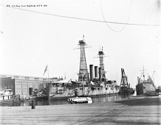 USS Louisiana at Norfolk Navy Yard 1914