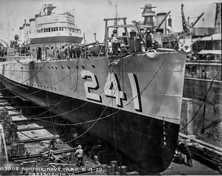 USS Childs Bow Repair 1926 2