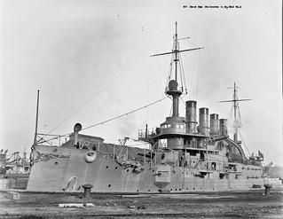 USS North Carolina in Drydock