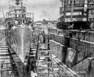 USS Childs Bow repair 1926