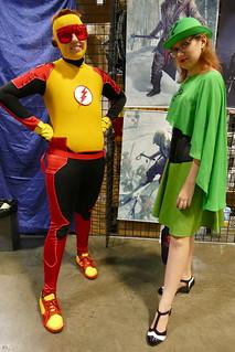 Kid Flash and Female Riddler
