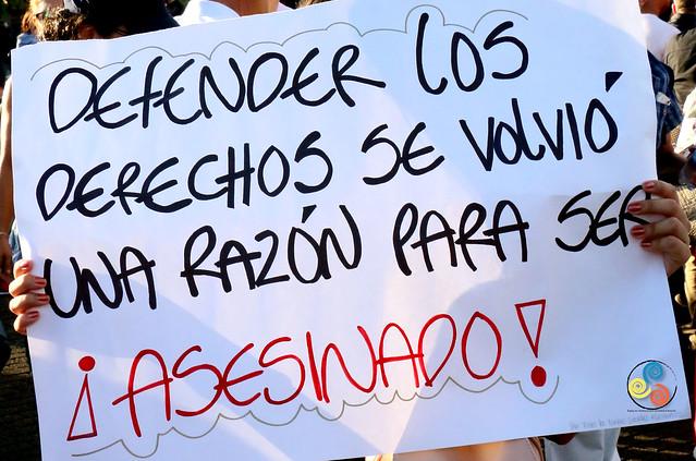 Marcha en defensa de la vida y en rechazo al asesinato de líderes sociales