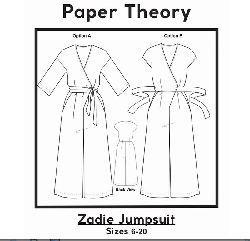 Zadie jumpsuit tech drawing