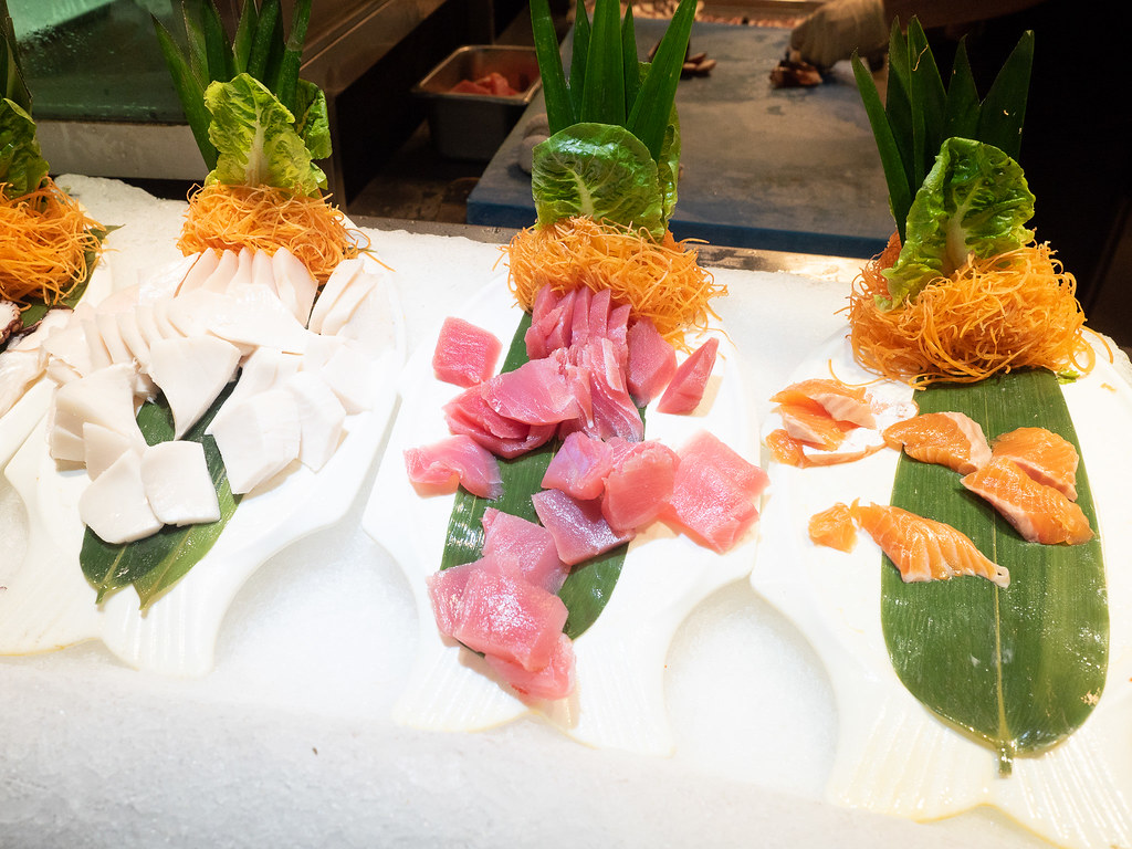 Choices of fresh sashimi at Jogoya Buffet Restaurant at Starhill Gallery, Kuala Lumpur