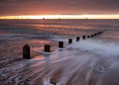 aberdeen aberdeenbeach landscape longexposure water scotland sea sunrise sunset movement canon canon5d