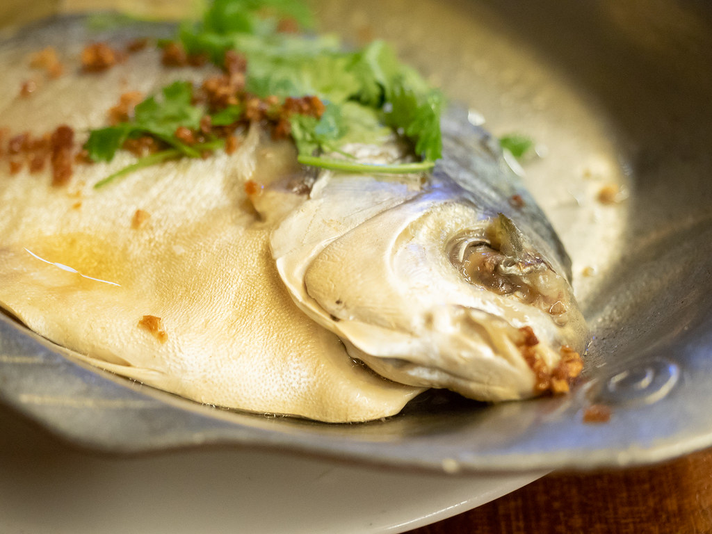 Jogoya' Steamed Pomfret Fish from Chinese food section.