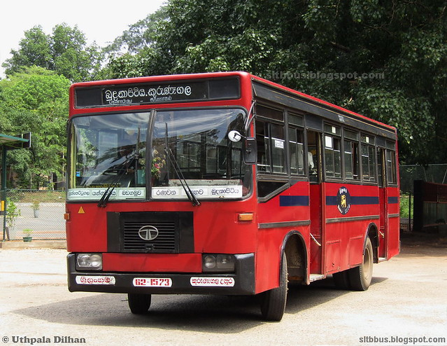 Dimo TATA LPO 1313/47 bus from SLTB Kurunegala north depot