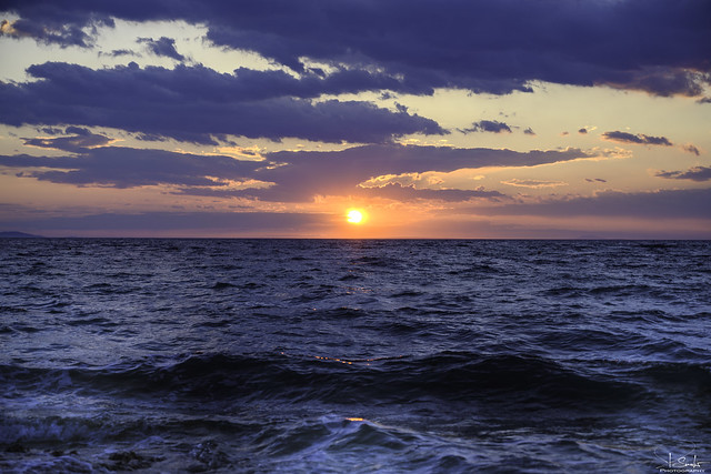 Sunset adria view at Punta Skala beach -  Petrčane - Croatia