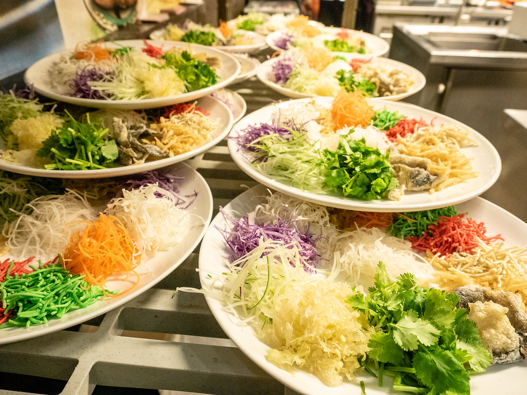 Yee Sang for Chinese New Year celebration