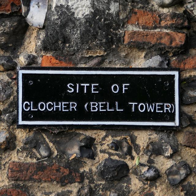 SITE OF CLOCHER (BELL TOWER)