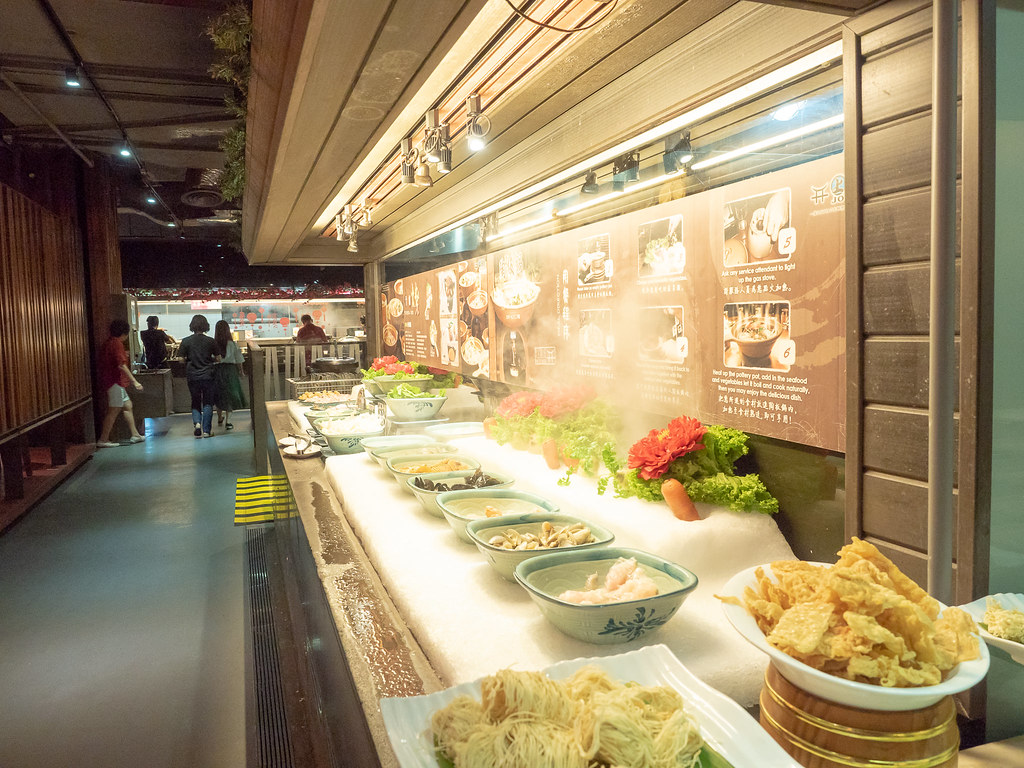 Chinese Steamboat section at Jogoya Buffet restaurant.