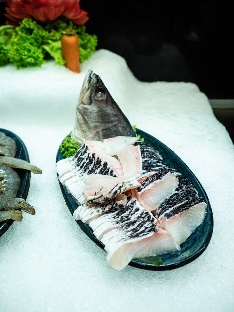 Fresh fish slices for the steamboat