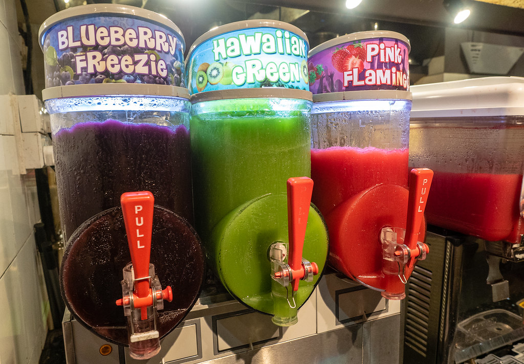 Colorful beverages at Jogoya Buffet Restaurant