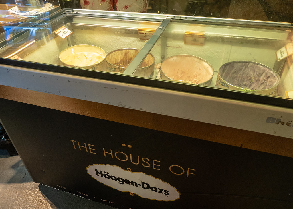 Haagen Dazs ice cream at Jogoya Buffet.