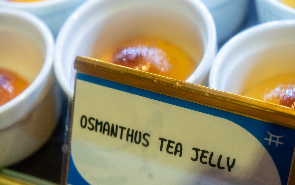 Jogoya Buffet's Osmanthus Tea Jelly