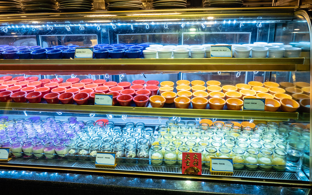 Colorful desserts at Jogoya Buffet Restaurant at Starhill Gallery.