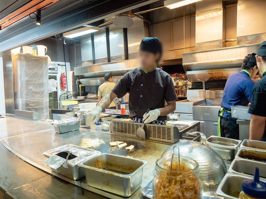 Jogoya's chef at teppanyaki section