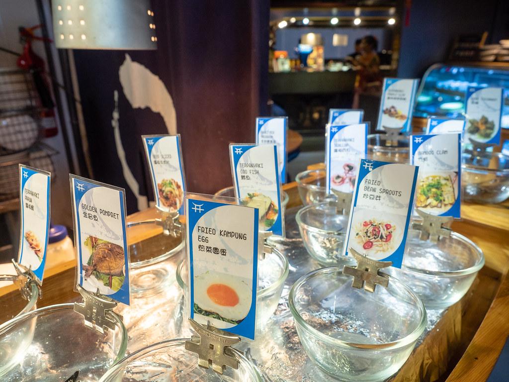 Jogoya buffet's Japanese Teppanyaki choices.
