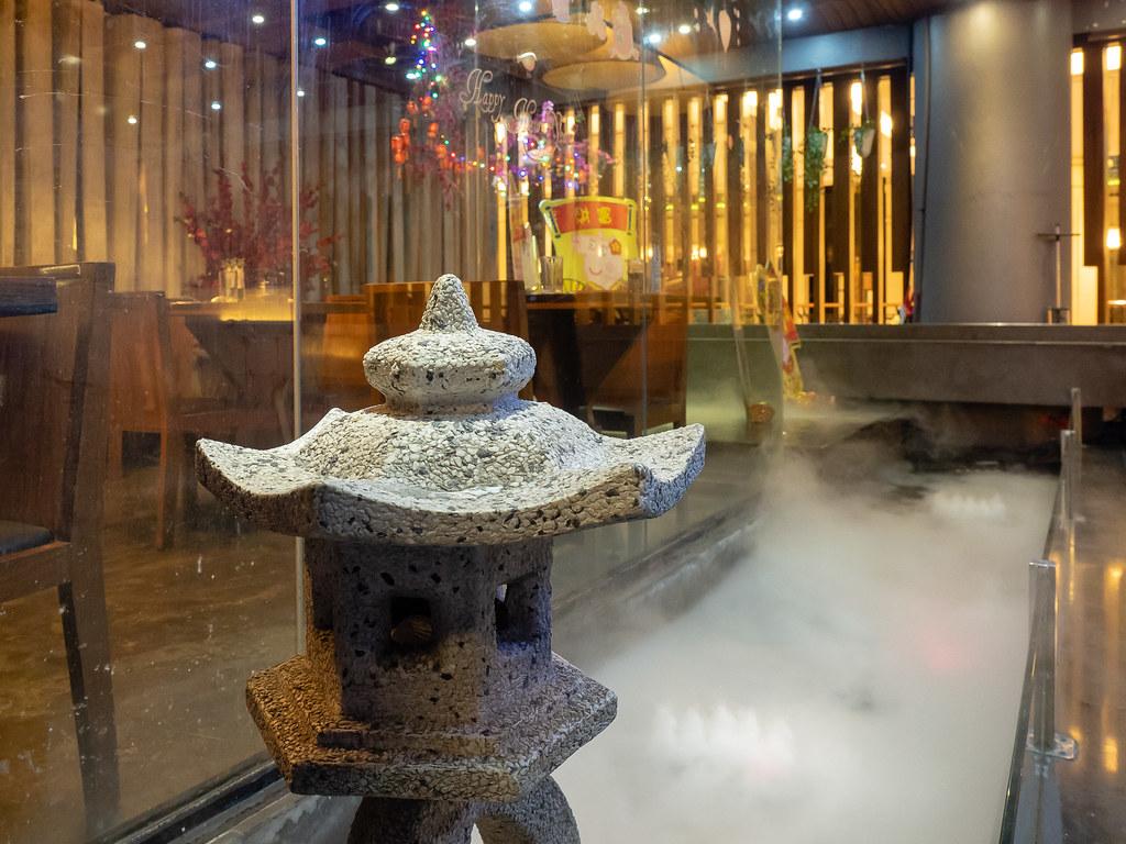 Foggy pool in Jogoya Buffet Restaurant at Starhill Gallery, Kuala Lumpur