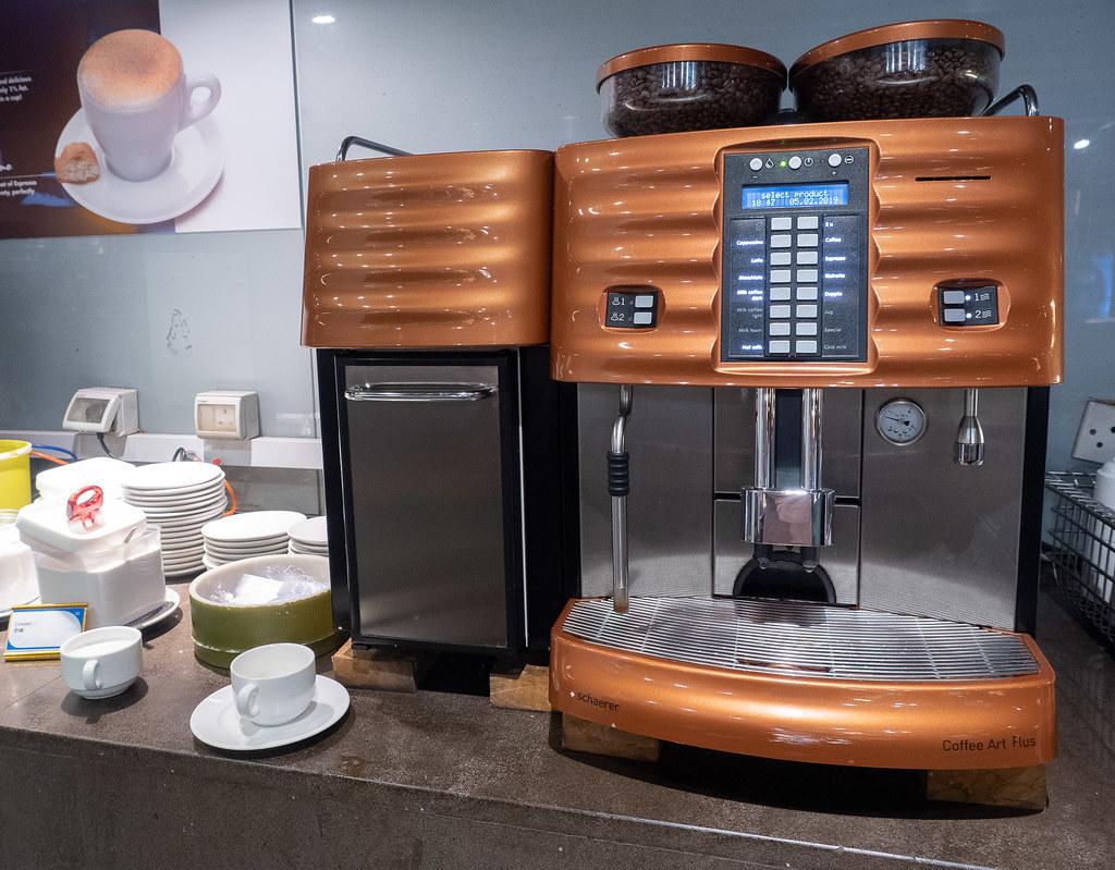 Jogoya's coffee machine.