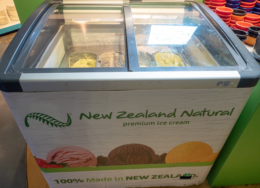 New Zealand ice cream at Jogoya.