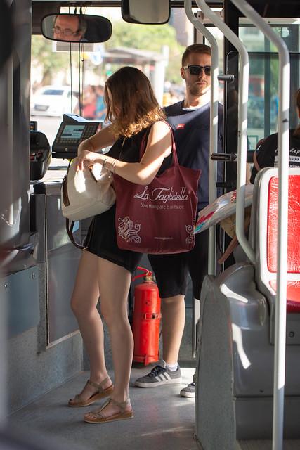 En el autobús