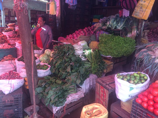 Vegetable market in Ethiopia
