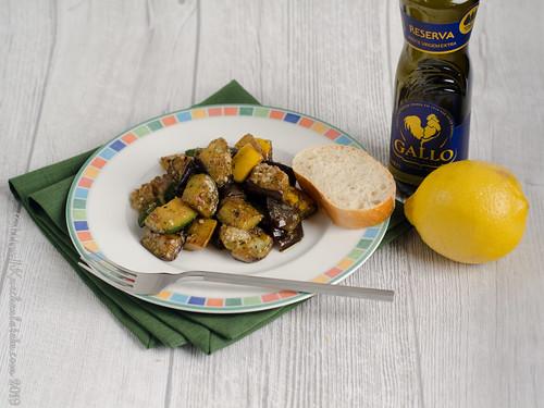 Auberginen und Zucchini mit Rosmarin und Fenchelsaat (1)