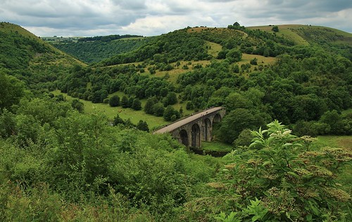 europe england derbyshire monsalhead outdoor landscape viaduct trees beauty simplysuperb