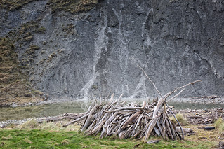 Sleep-out at Mackintoshes Beach, North Canterbury, South Island, New Zealand.