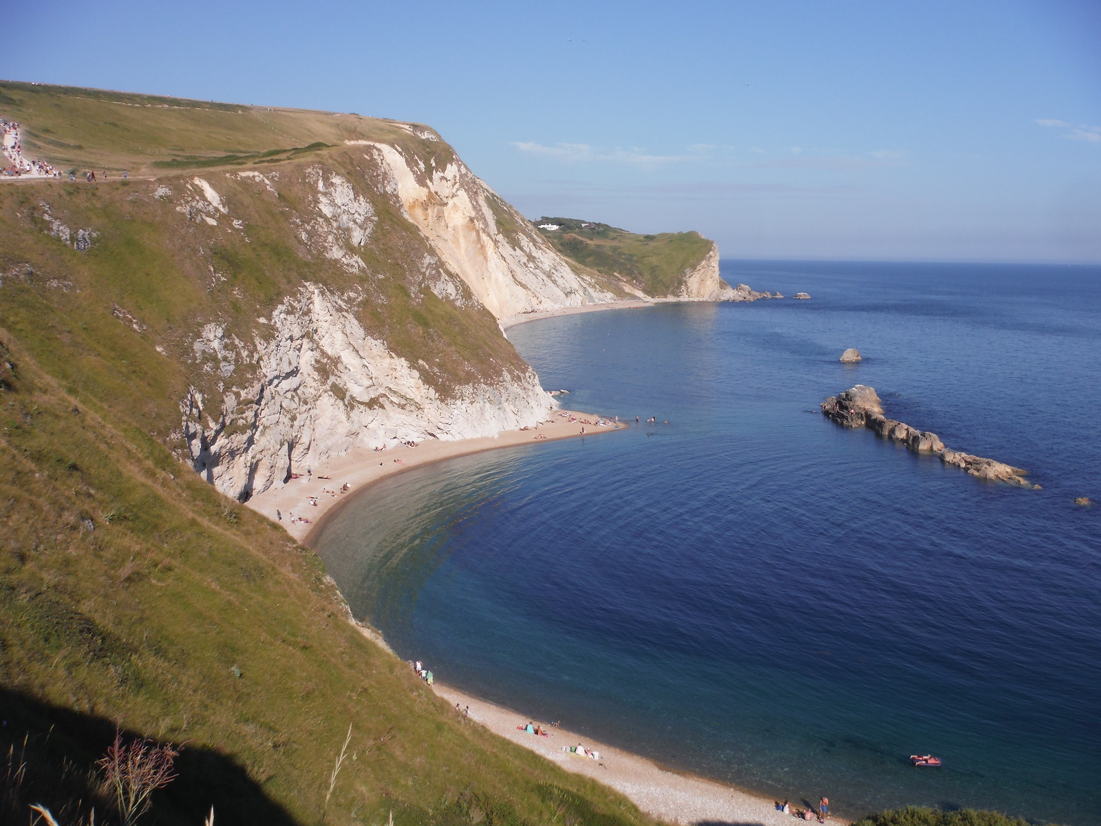 Man o' War Bay towards Dungy Head SWC Walk 54 - Lulworth Cove Circular (via Tyneham and Durdle Door)