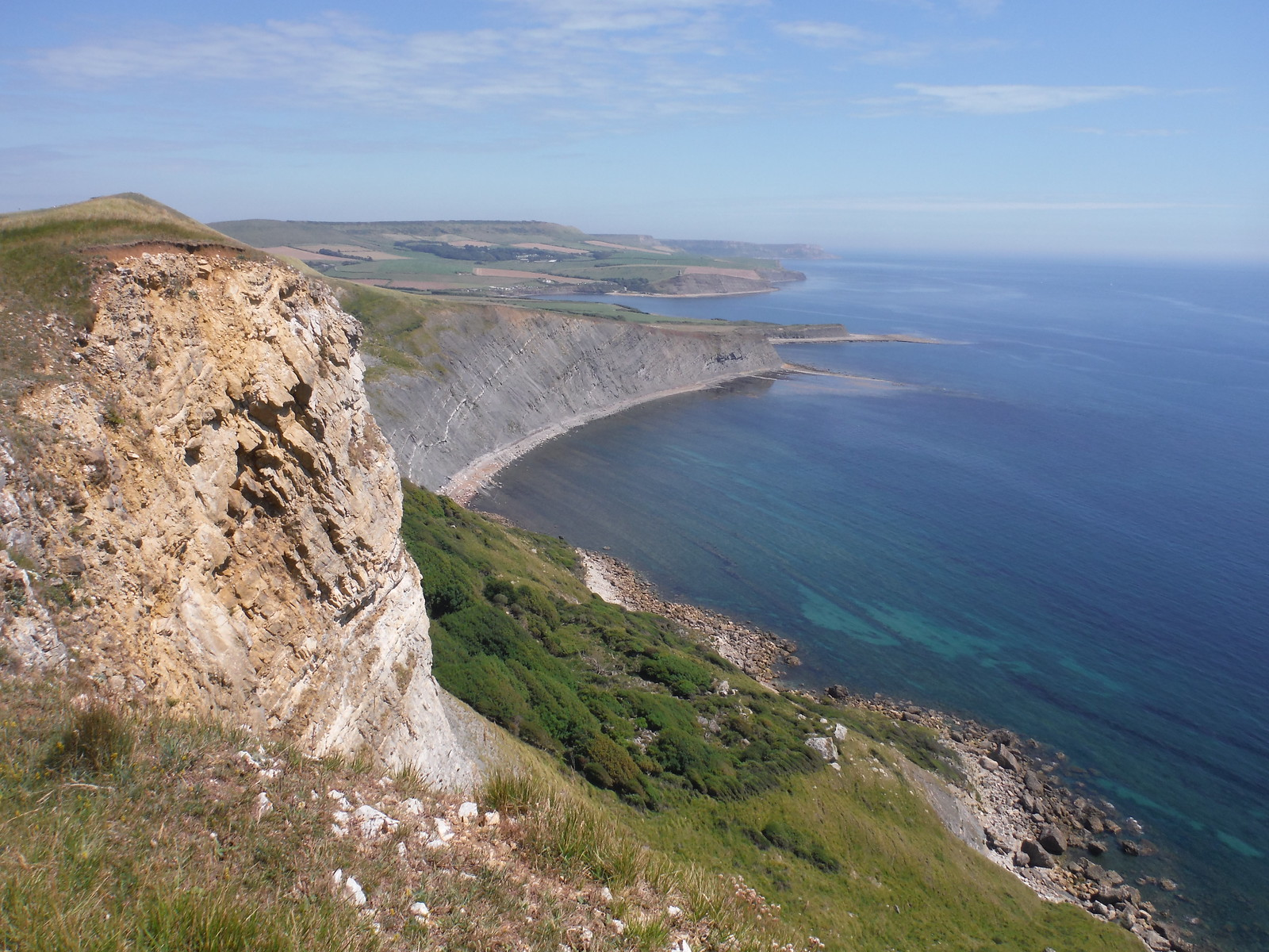 Easterly Views from Gad Cliff SWC Walk 54 - Lulworth Cove Circular (via Tyneham and Durdle Door)