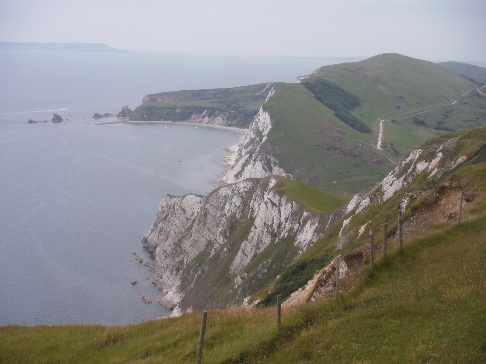 Backview from Rings Hill/Flower's Barrow Hillfort SWC Walk 54 - Lulworth Cove Circular (via Tyneham and Durdle Door)