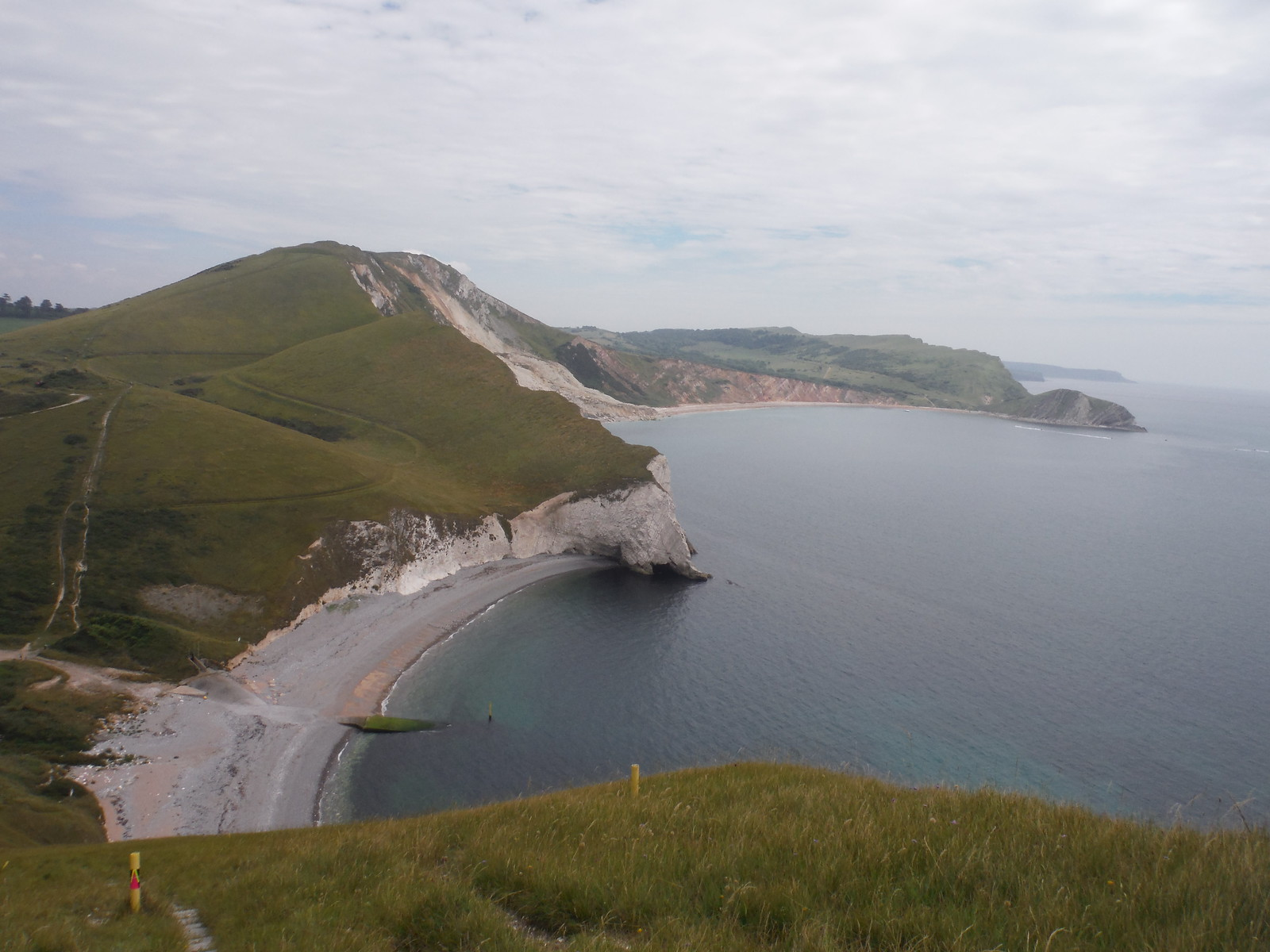 Arish Mell Bay and Worbarrow Bay, from Bindon Hill SWC Walk 54 - Lulworth Cove Circular (via Tyneham and Durdle Door)