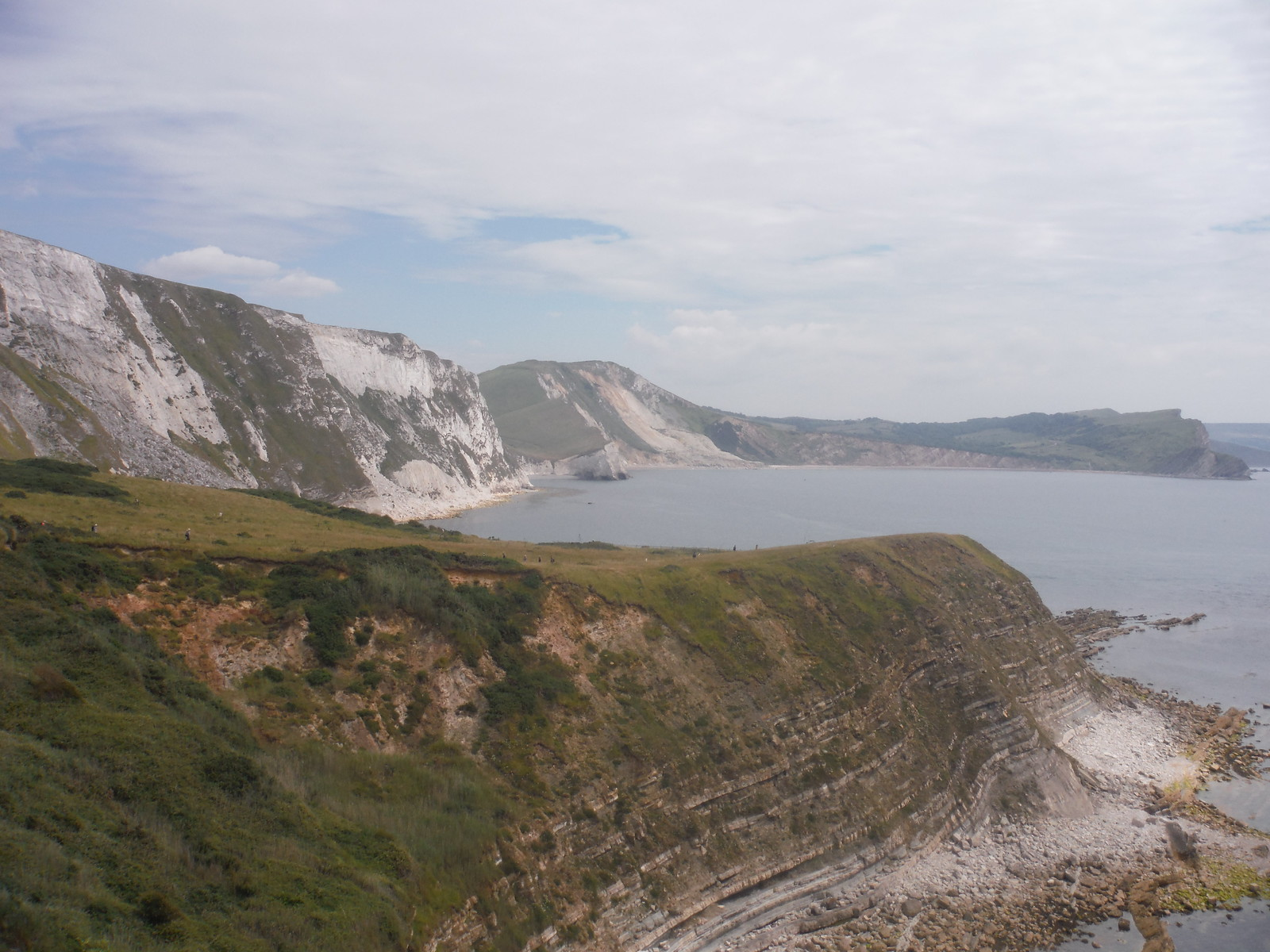 Easterly View from Coast Path near Little Bindon SWC Walk 54 - Lulworth Cove Circular (via Tyneham and Durdle Door)