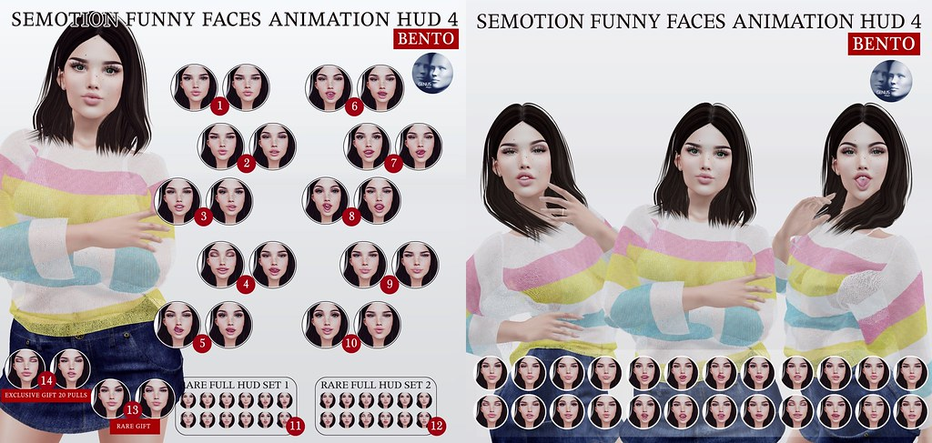 SEmotion Funny Faces Animation 4 Gacha