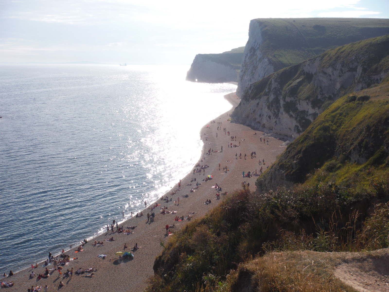 Bat's Head and Hole, from Durdle Beach SWC Walk 54 - Lulworth Cove Circular (via Tyneham and Durdle Door)