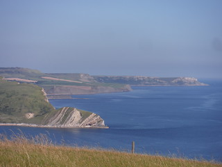 Easterly Backview from Bindon Hill SWC Walk 54 - Lulworth Cove Circular (via Tyneham and Durdle Door)