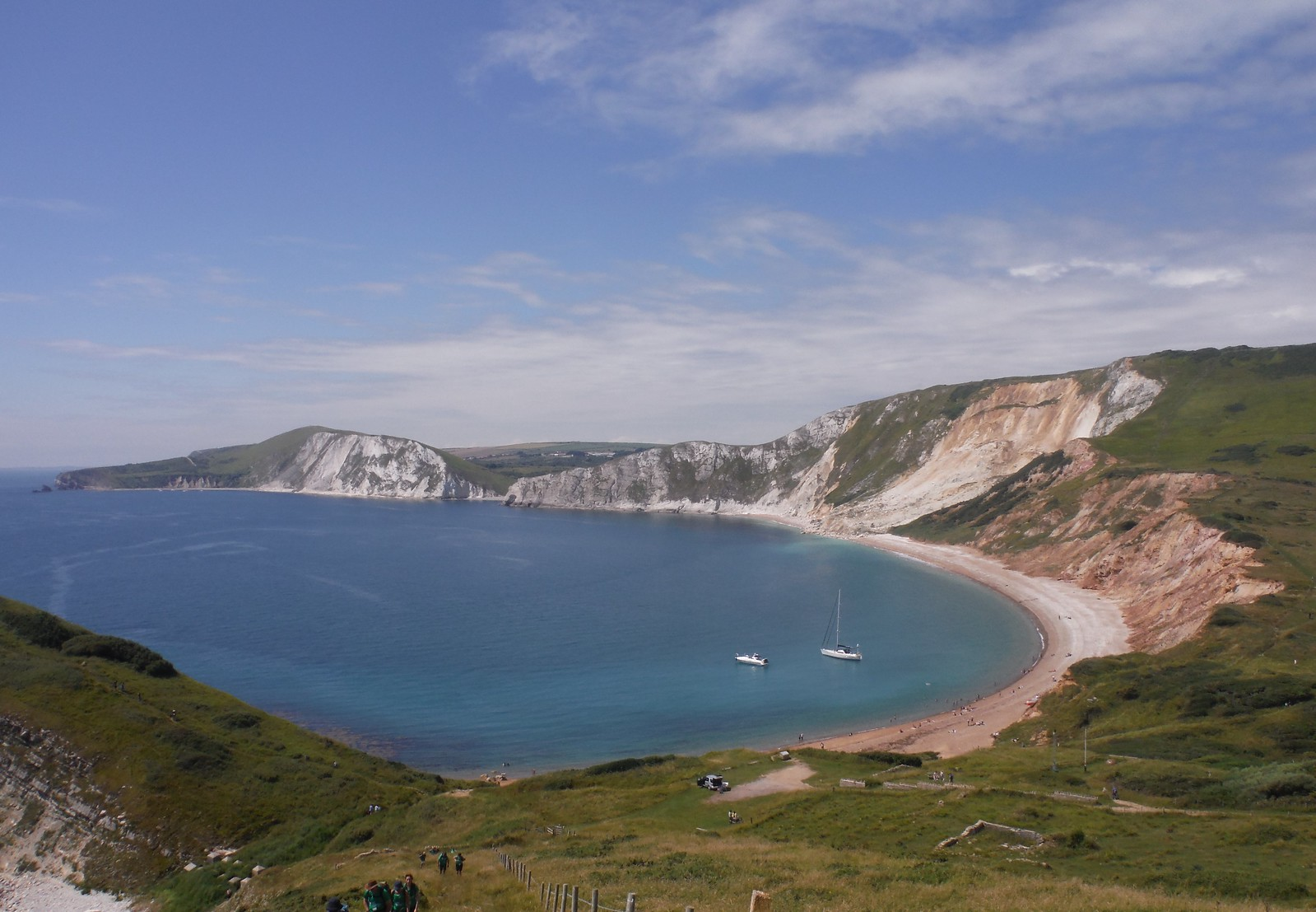 Worbarrow Bay to Mupe Bay, from Ascent up Gad Cliff SWC Walk 54 - Lulworth Cove Circular (via Tyneham and Durdle Door)