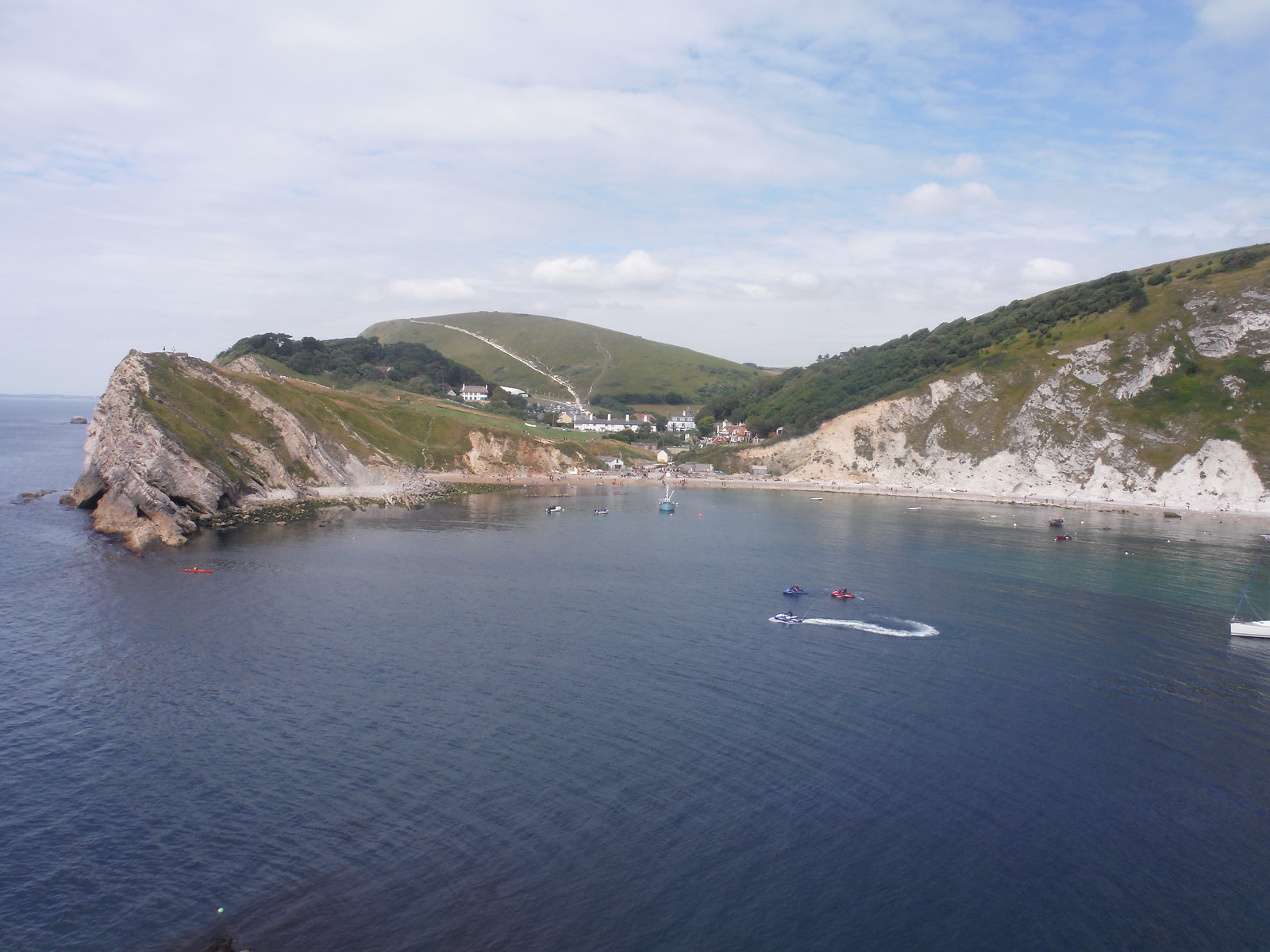 Lulworth Cove and Hambury Tout, from East Point SWC Walk 54 - Lulworth Cove Circular (via Tyneham and Durdle Door)