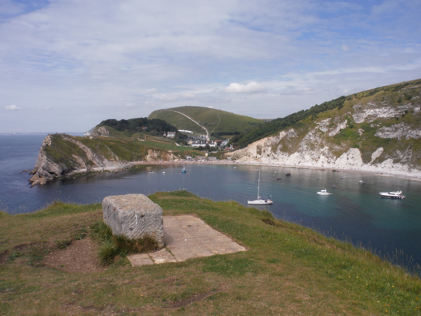 Lulworth Cove and Hambury Tout, from Pepler's Point SWC Walk 54 - Lulworth Cove Circular (via Tyneham and Durdle Door)