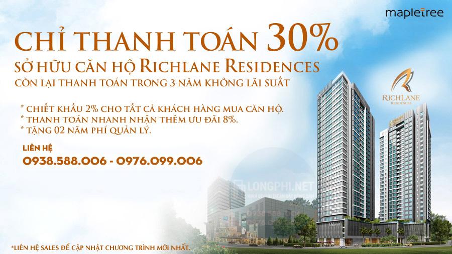 Chương trình bán hàng căn hộ RichLane Residences của Mapletree.