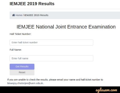 IEMJEE 2020 Result - Check Here | AglaSem Admission
