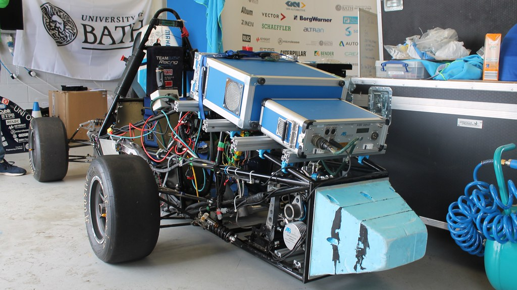 The Team Bath Racing Electric self-driving car at Formula Student